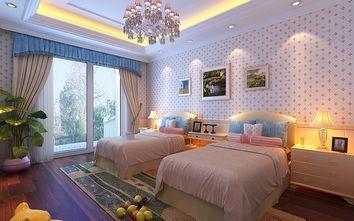 140平米四室三厅美式风格卧室装修效果图