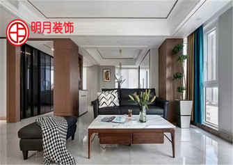 90平米一室两厅混搭风格客厅装修图片大全