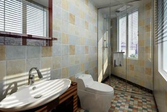 110平米一居室中式风格卫生间装修案例