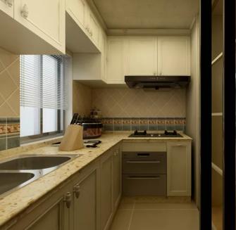 130平米三田园风格厨房装修案例