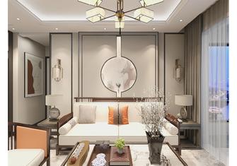80平米三室一厅中式风格客厅装修效果图