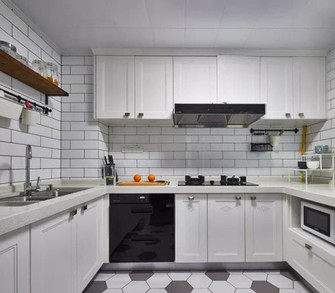 80平米三室一厅北欧风格厨房设计图