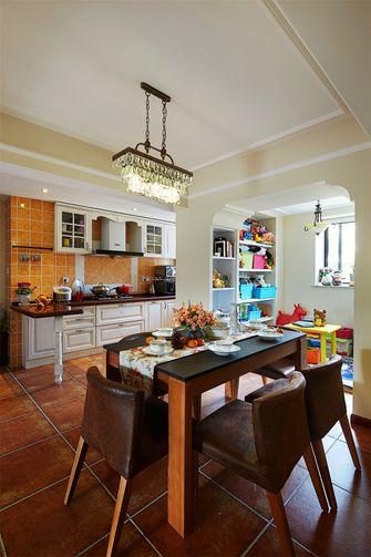 80平米一室一厅田园风格餐厅图