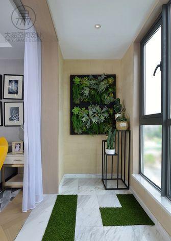 120平米三室两厅英伦风格阳台效果图