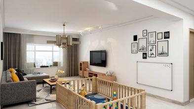 130平米三室两厅田园风格客厅图片