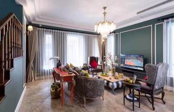 140平米复式地中海风格客厅图