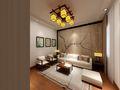 60平米公寓中式风格客厅装修案例