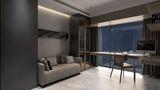 100平米三室一厅混搭风格客厅图片