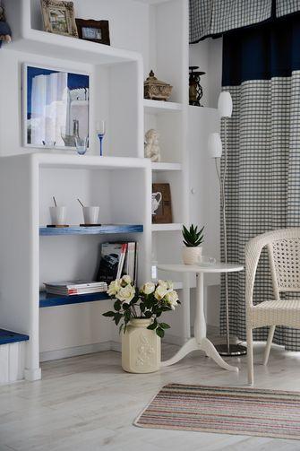 富裕型80平米三室一厅地中海风格书房图片大全