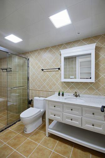 80平米美式风格卫生间设计图