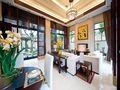 110平米三室一厅东南亚风格走廊图片