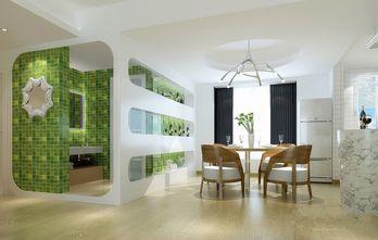 70平米三室三厅田园风格餐厅图片大全