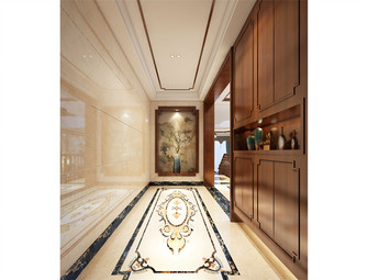 140平米别墅中式风格玄关效果图