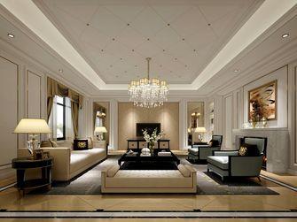 140平米别墅英伦风格客厅装修效果图
