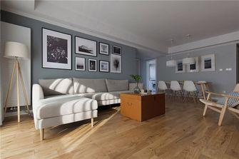 90平米三室四厅北欧风格客厅设计图