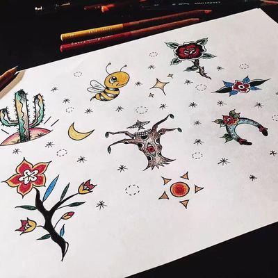 自创小图纹身款式图
