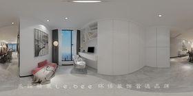 80平米三室兩廳現代簡約風格書房圖