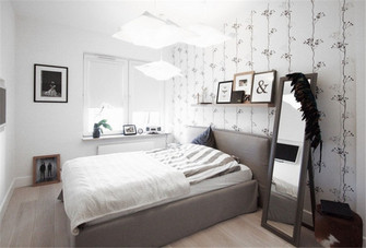60平米一室一厅北欧风格卧室家具装修效果图