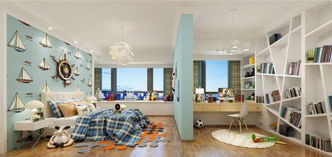 130平米三室两厅英伦风格儿童房装修效果图