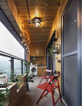 120平米三室两厅英伦风格阳台图片