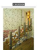 经济型90平米三室一厅地中海风格楼梯图片