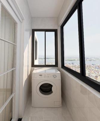 80平米三室一厅现代简约风格阳台效果图