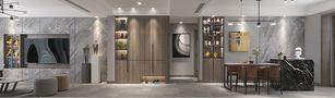 140平米三室三厅混搭风格客厅设计图