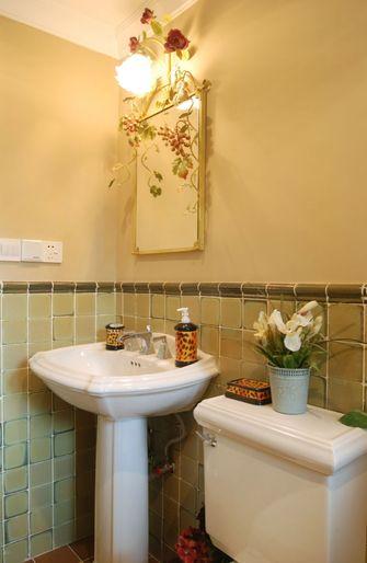 110平米四室一厅田园风格卫生间装修案例