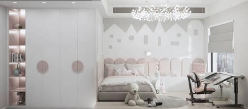 110平米三室一厅中式风格儿童房效果图