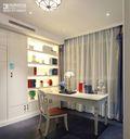 100平米三室两厅地中海风格书房窗帘装修案例