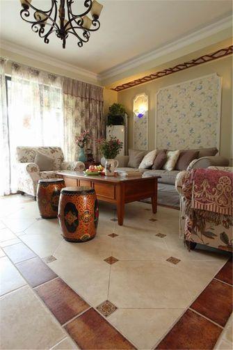 5-10万120平米一室两厅田园风格客厅装修图片大全
