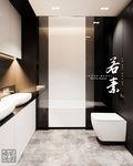 80平米现代简约风格卫生间浴室柜装修案例