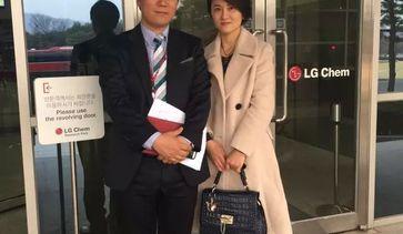 张琳琳与大韩皮肤研究院院长朴弦勋合影