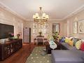 130平米三室两厅欧式风格客厅背景墙装修图片大全