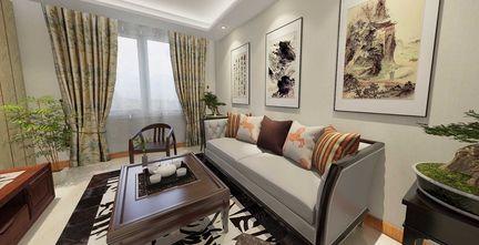 50平米公寓中式风格客厅装修效果图