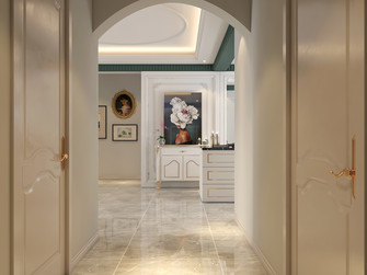 100平米三室两厅法式风格走廊欣赏图