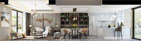 140平米復式混搭風格餐廳設計圖