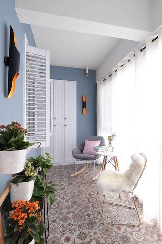 110平米三室一厅地中海风格阳台效果图