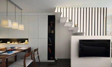 50平米复式混搭风格楼梯间装修图片大全