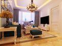 90平米地中海风格客厅窗帘效果图