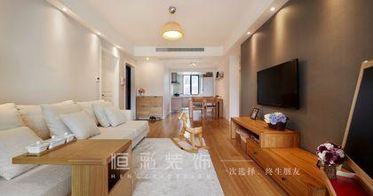 10-15万110平米三室两厅现代简约风格客厅装修案例