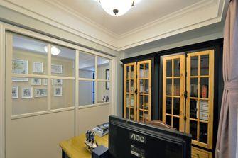 经济型140平米四室三厅混搭风格书房图