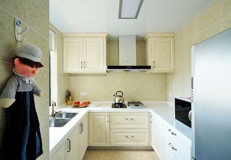 140平米三室两厅田园风格厨房图