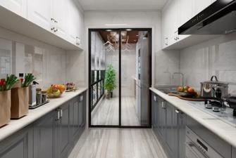 100平米三室一厅现代简约风格厨房欣赏图