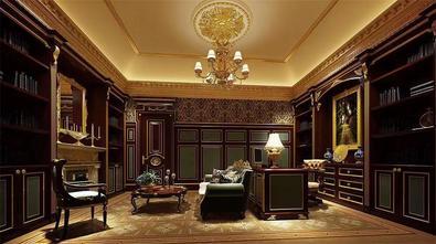 豪华型140平米四室四厅法式风格书房装修图片大全