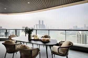 豪华型140平米四室三厅现代简约风格阳台图片大全