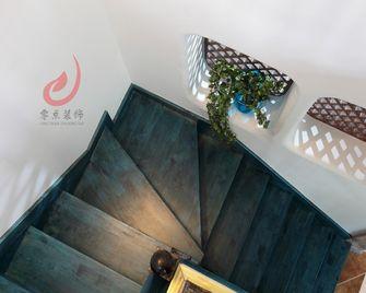 140平米三室三厅田园风格走廊图片大全