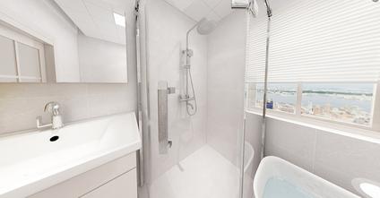 80平米中式风格卫生间设计图