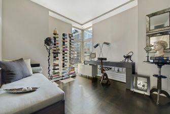 90平米三室一厅现代简约风格书房设计图