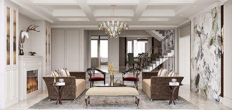 140平米别墅新古典风格客厅装修效果图